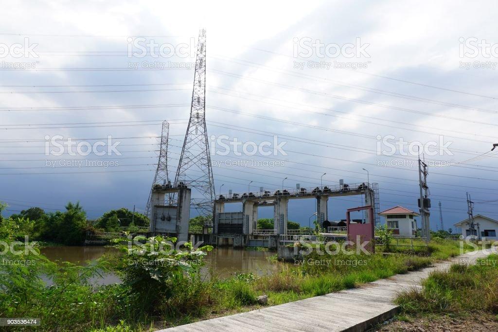 public dam stock photo