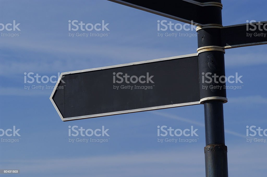public direction sign blank add message royalty-free stock photo