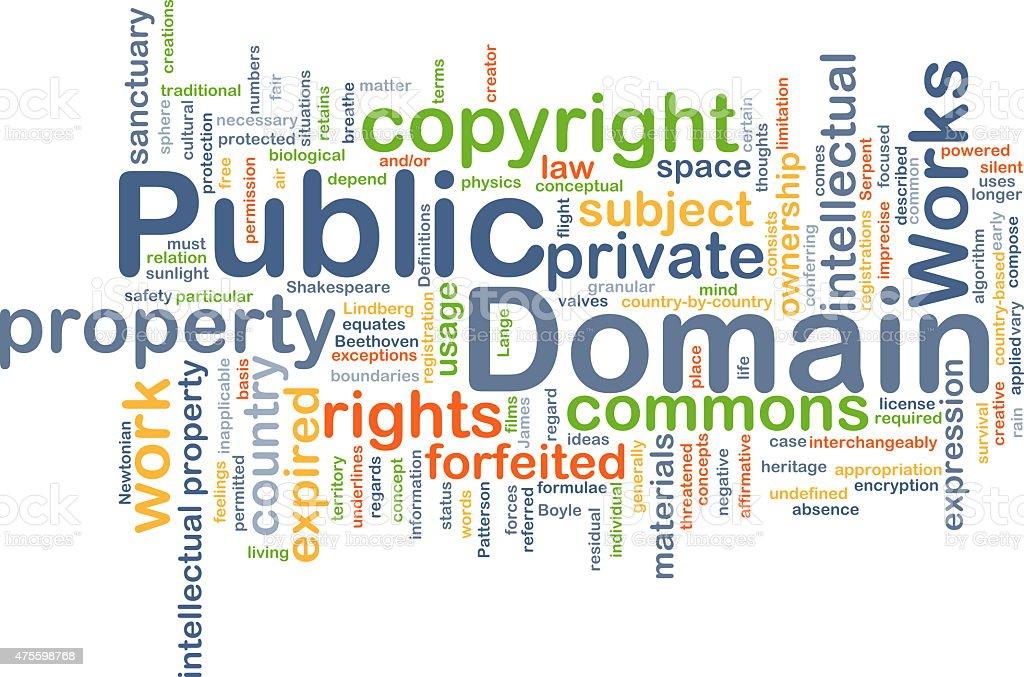 Public domain background concept stock photo