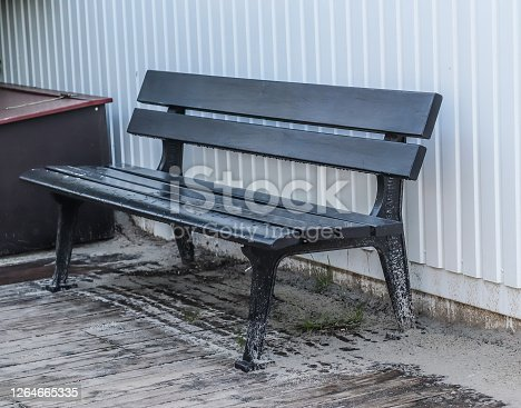 A public empty bench found in northern Europe.