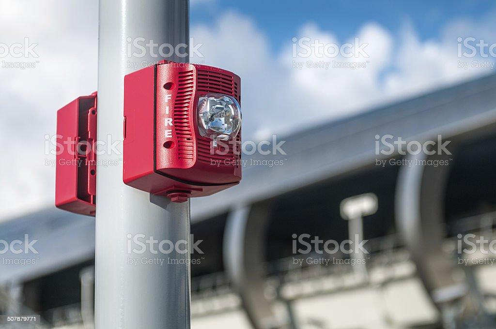 Public fire alarm stock photo