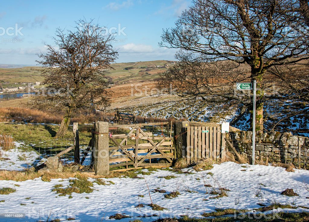 Public footpath in the South Pennines stock photo
