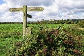Public Footpath sign, Arundel, West Sussex
