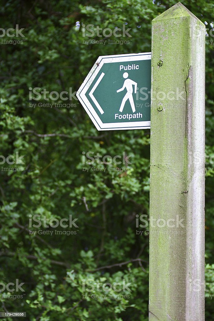 Public Footpath Sign royalty-free stock photo