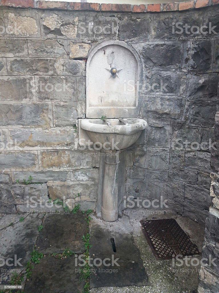 Public Fountain stock photo