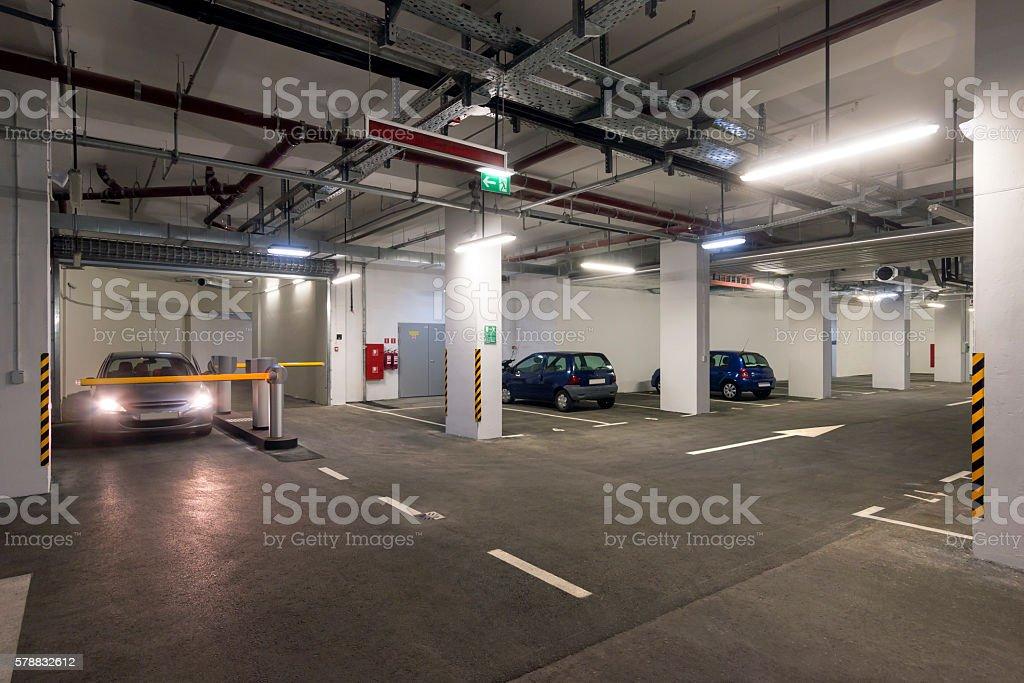 Public garage stock photo