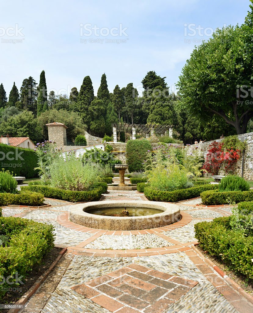 beautiful classical garden in France, public park