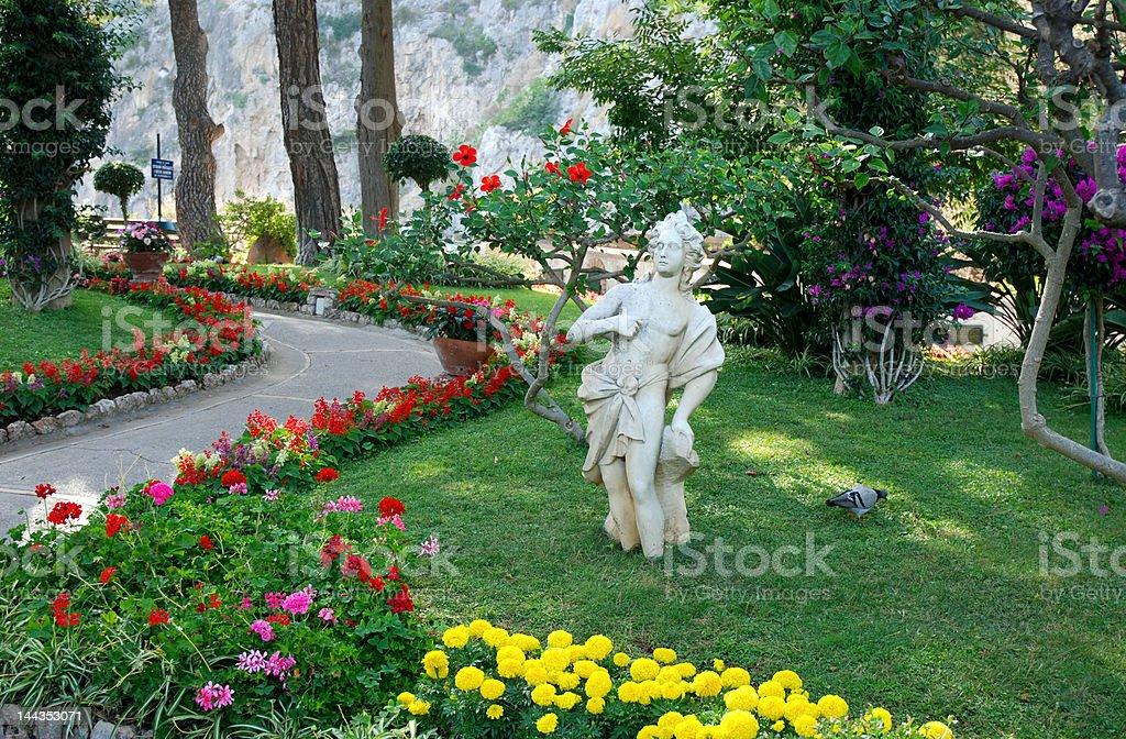 Public garden stock photo