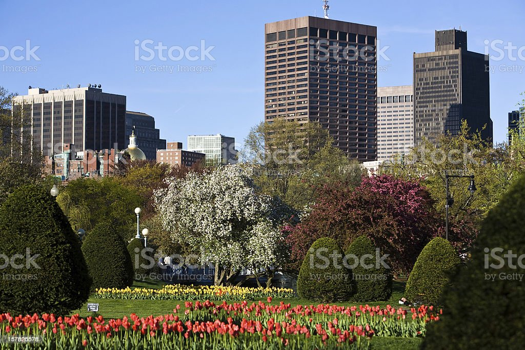 Public Gardens in Spring royalty-free stock photo
