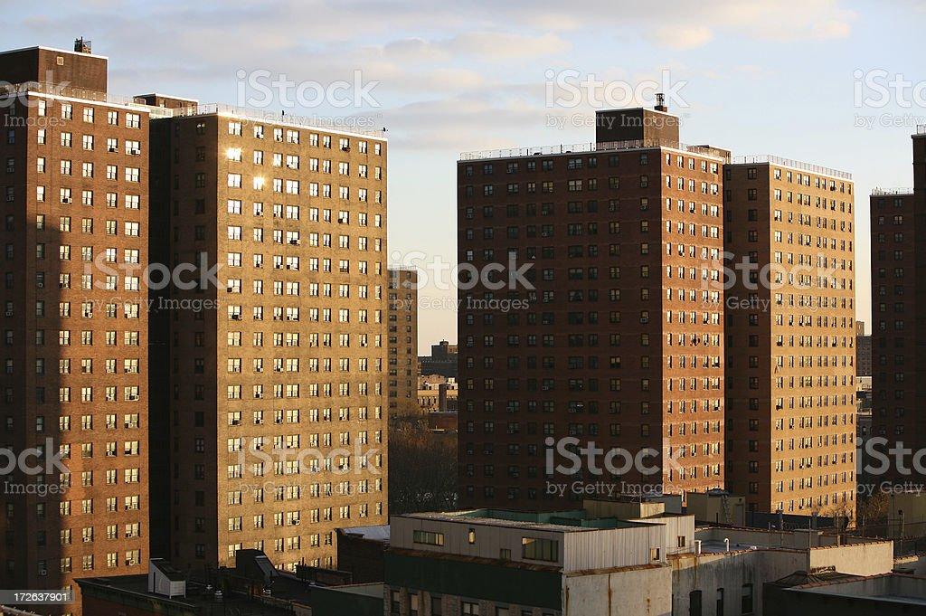 Public Housing Blocks royalty-free stock photo