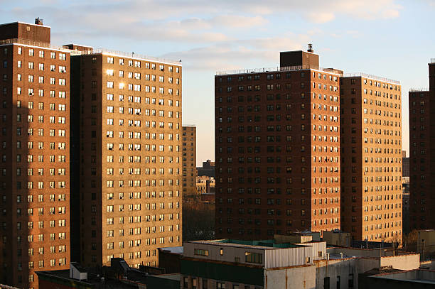 public housing blocks - council flat stock photos and pictures