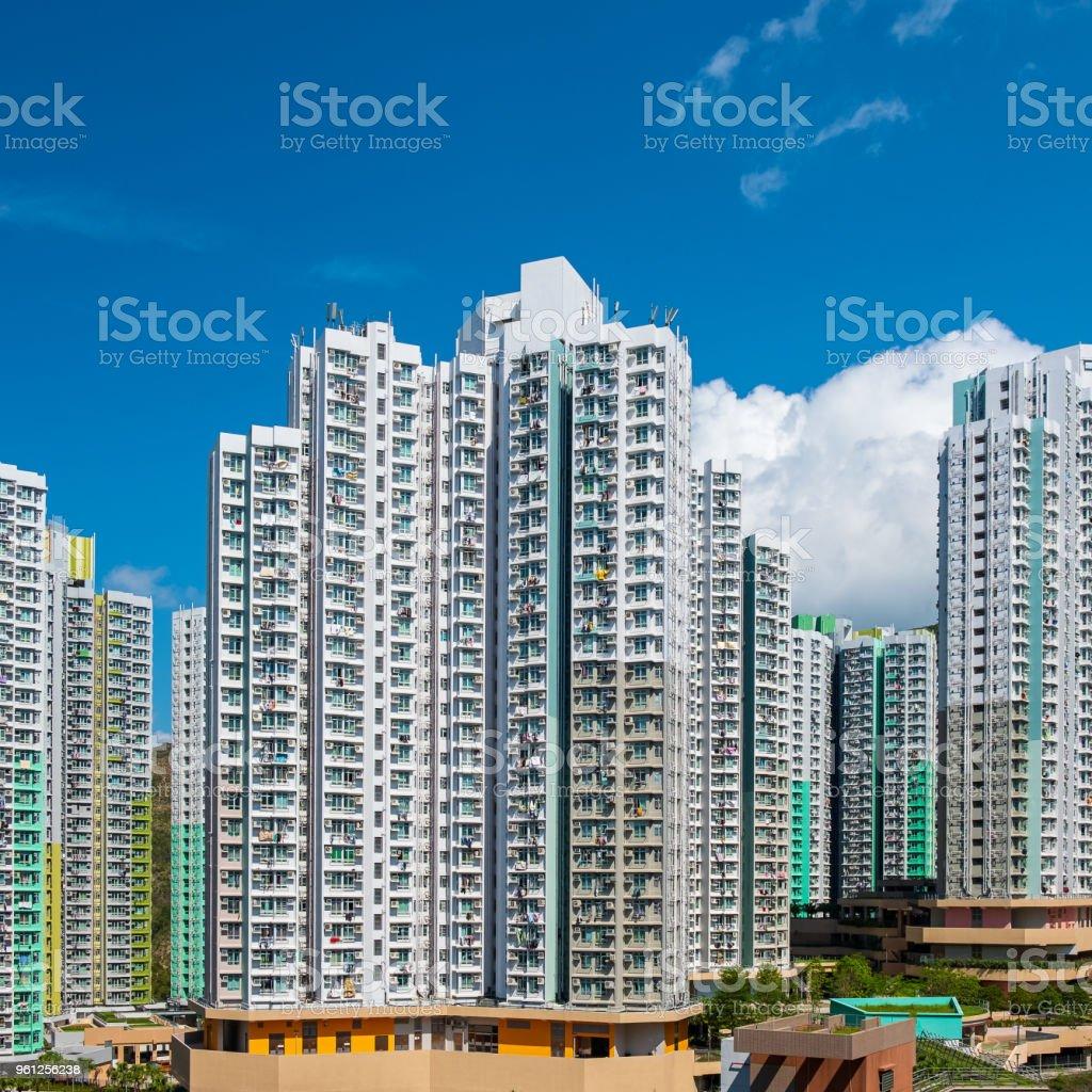 Public housing in Hong Kong stock photo
