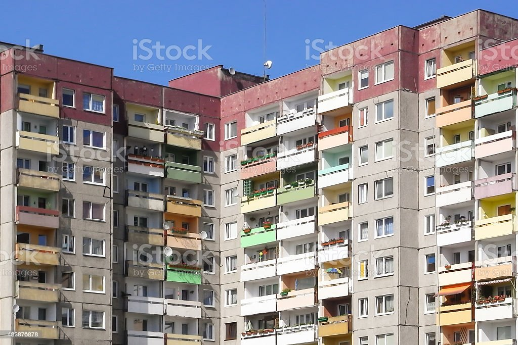 Public housing in Poland stock photo