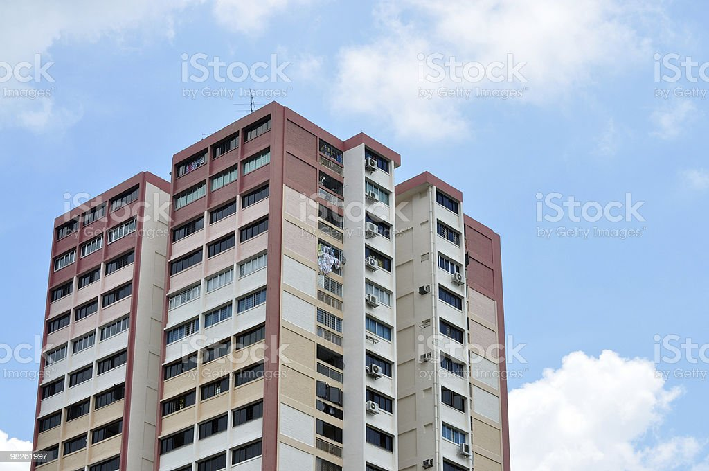 Public alloggiamento a Singapore foto stock royalty-free