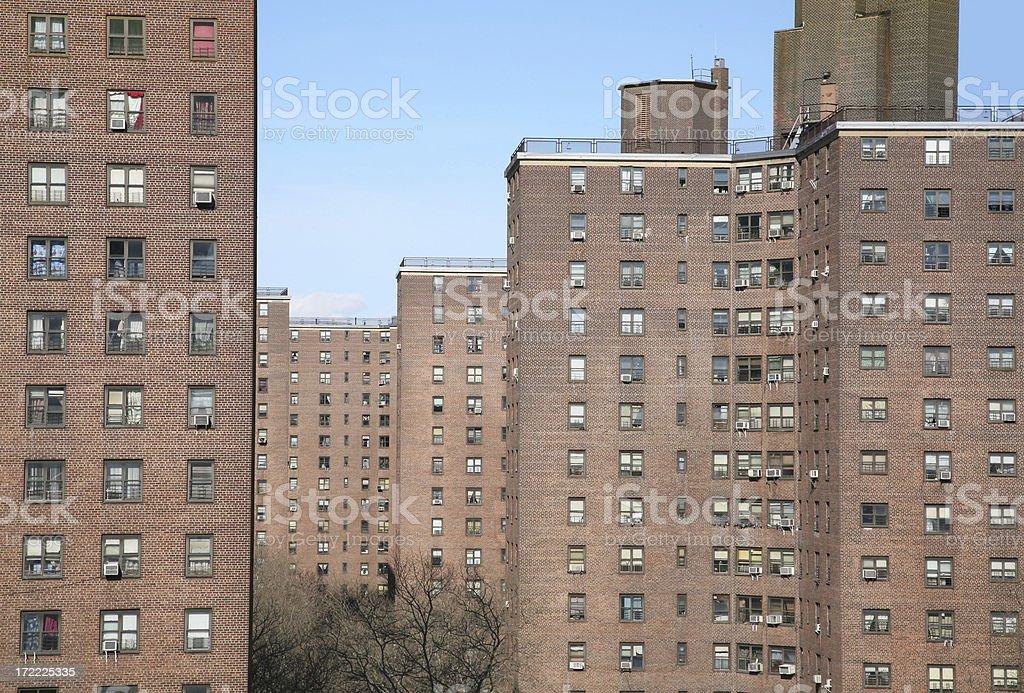 Public Housing Project, New York City stock photo