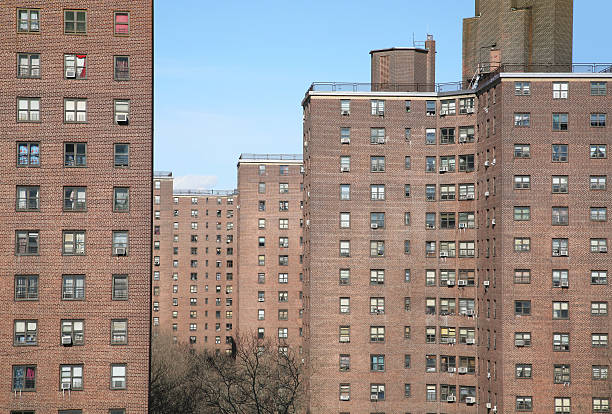 public housing project, new york city - council flat stock photos and pictures