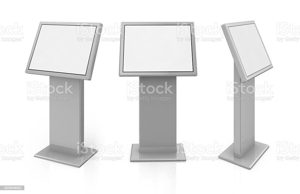 public information kiosk stock photo