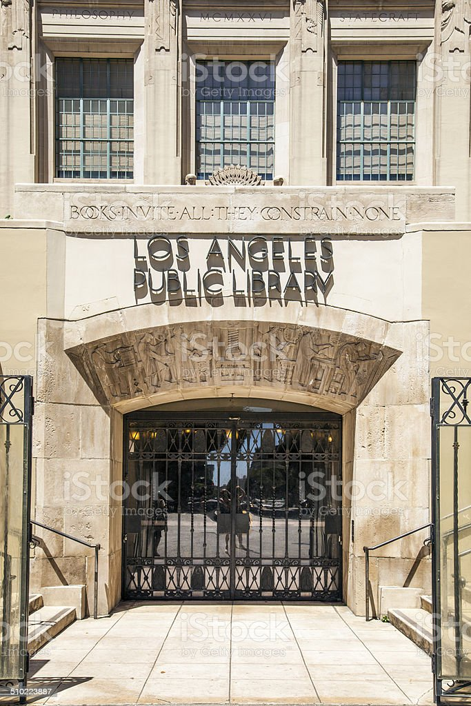 public library downtown Los Angeles stock photo