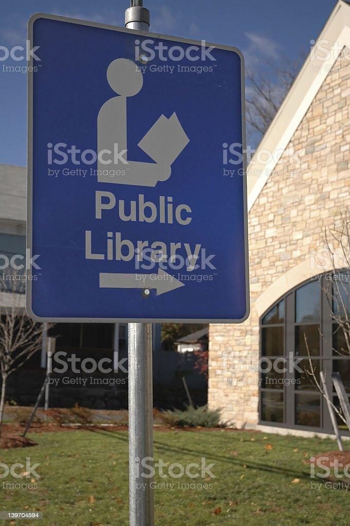 Public Library Location royalty-free stock photo