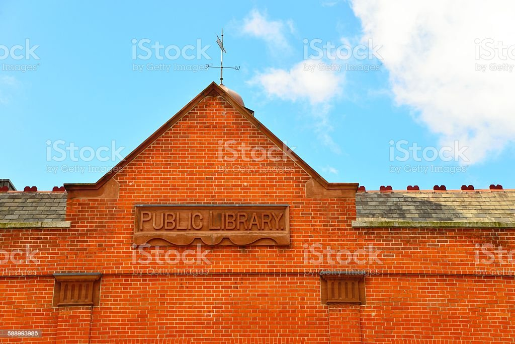 Public library stock photo