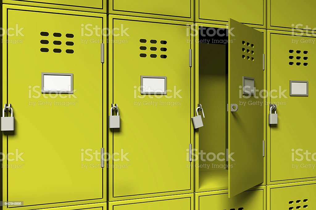 Public Lockers stock photo