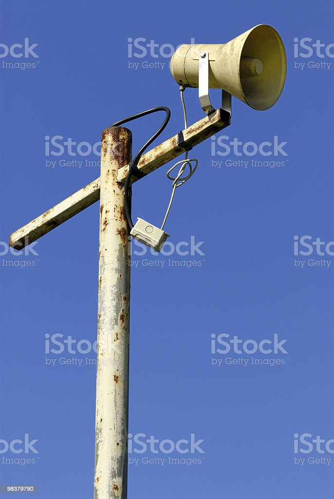 public loudspeaker royalty-free stock photo