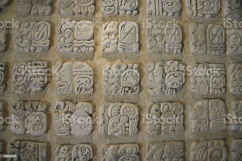 public mayan calendar 2012 the end doomsday royalty-free stock photo