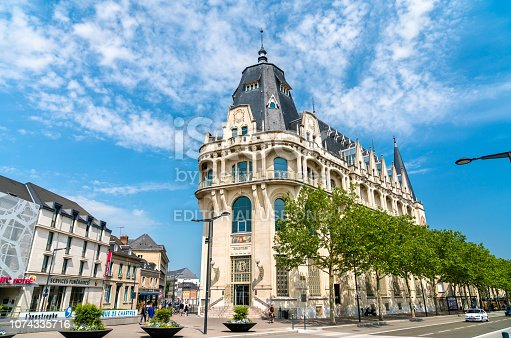Chartres, France: May 22, 2018: Mediatheque l'Apostrophe, a Public multimedia library in the city centre