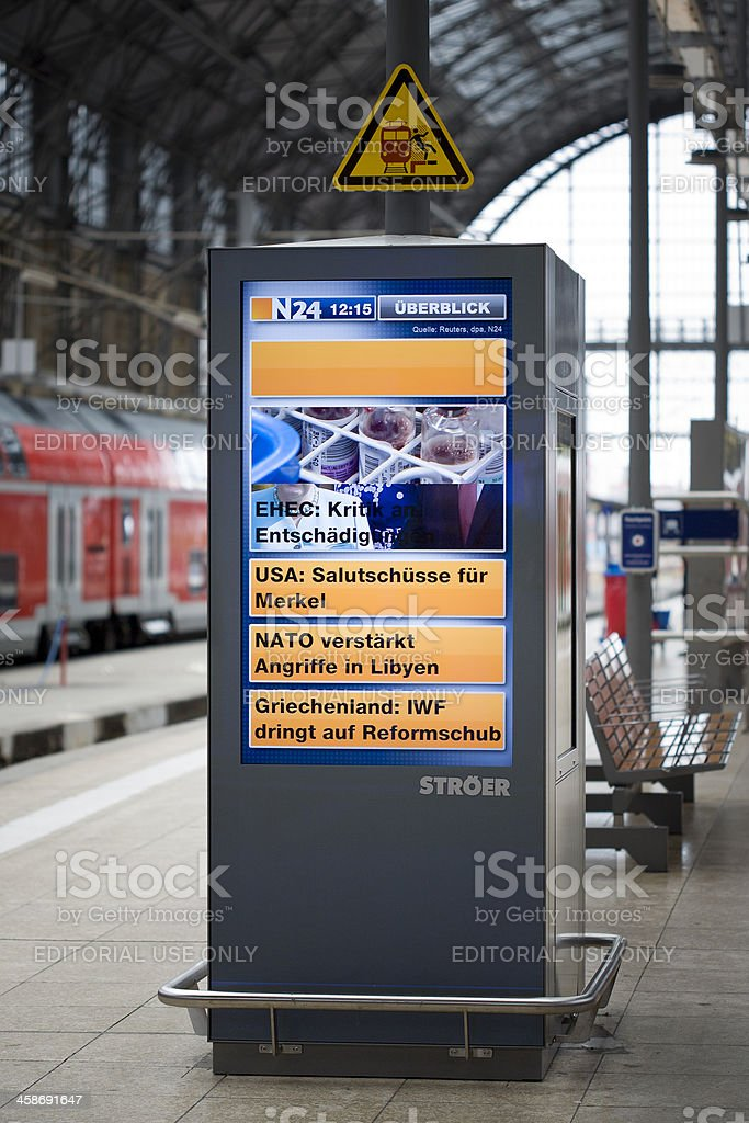 Public news screen royalty-free stock photo