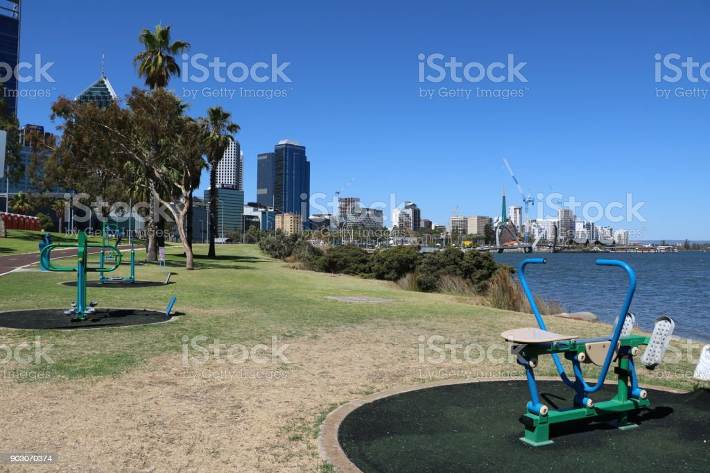 Public Park And Outdoor Fitness Equipment In Perth Western Australia