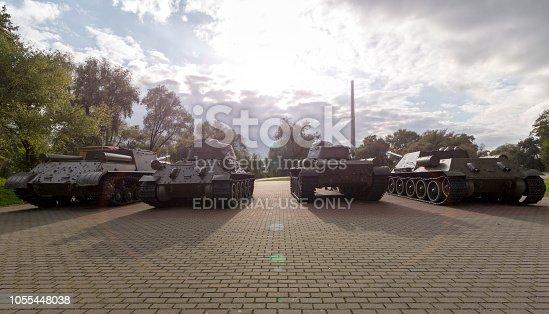 istock Public park Fortress Voin I Znamya in Brest Belarus 1055448038