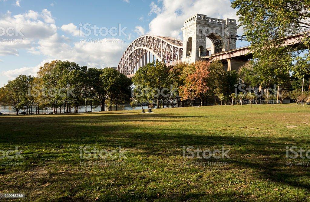 Public park in Astoria, Queens-New York stock photo