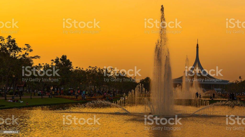openbaar park in Bangkok. - Royalty-free Architectuur Stockfoto