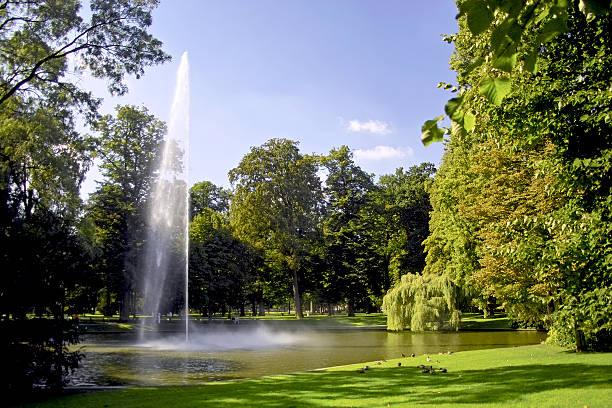 Public park in Breda stock photo