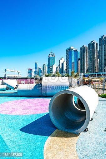 istock Public park in Hong Kong city 1314437305