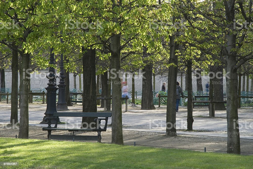 Public park in spring royalty-free stock photo