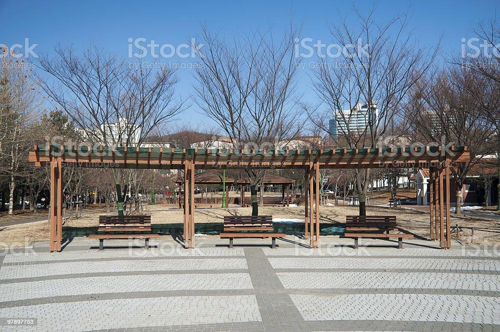 Public Park on a Sunny Day royalty-free stock photo