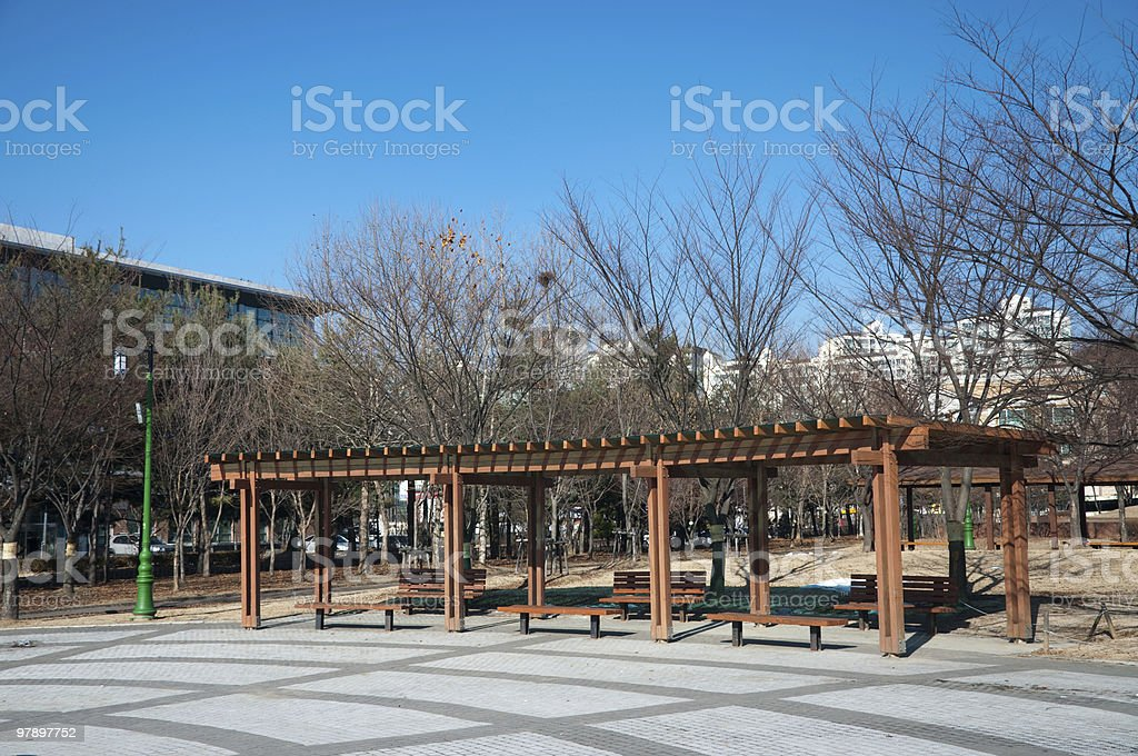 Public Park Rest Area royalty-free stock photo
