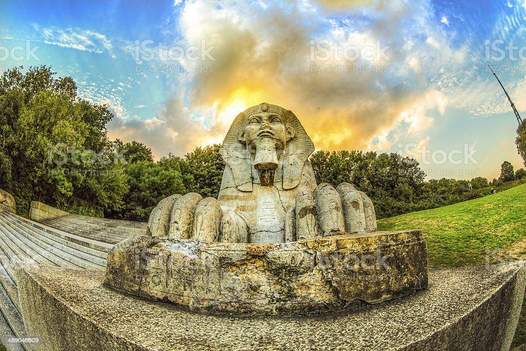 Public Park statue stock photo