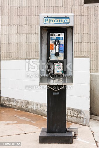 istock public pay phone in street 1135110155
