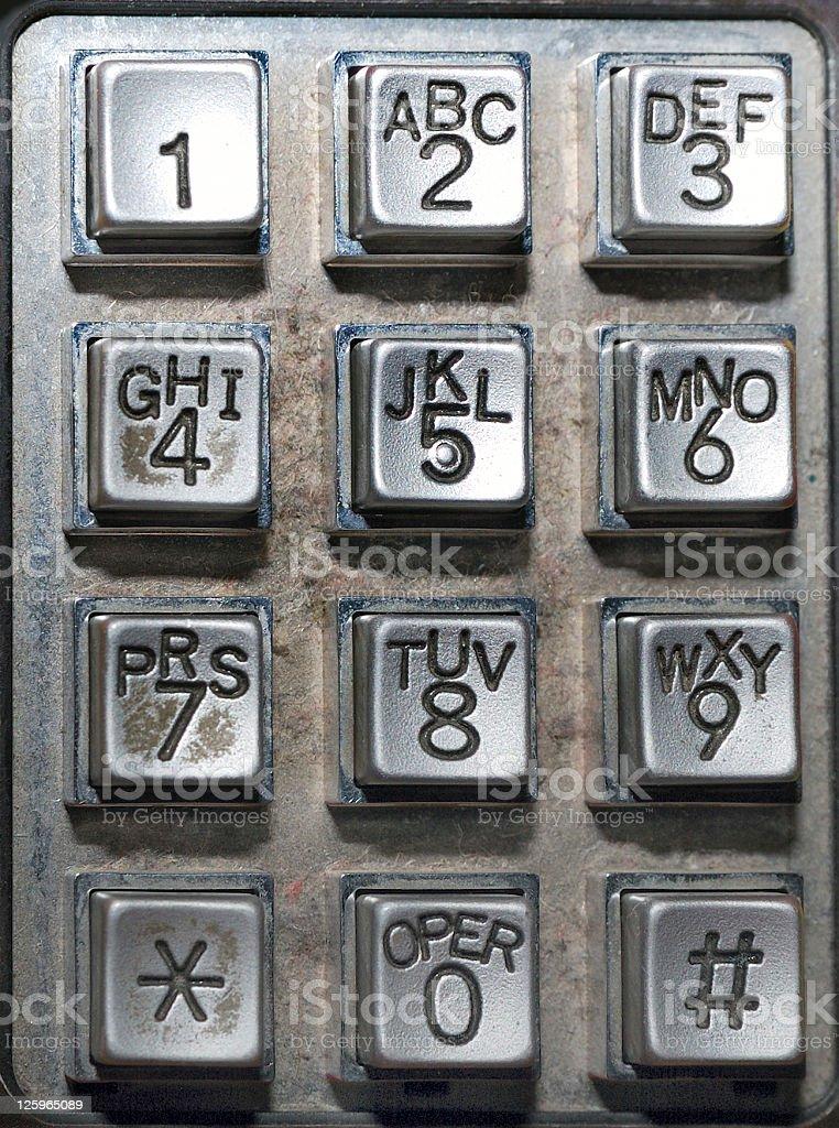 Public phone keypad royalty-free stock photo