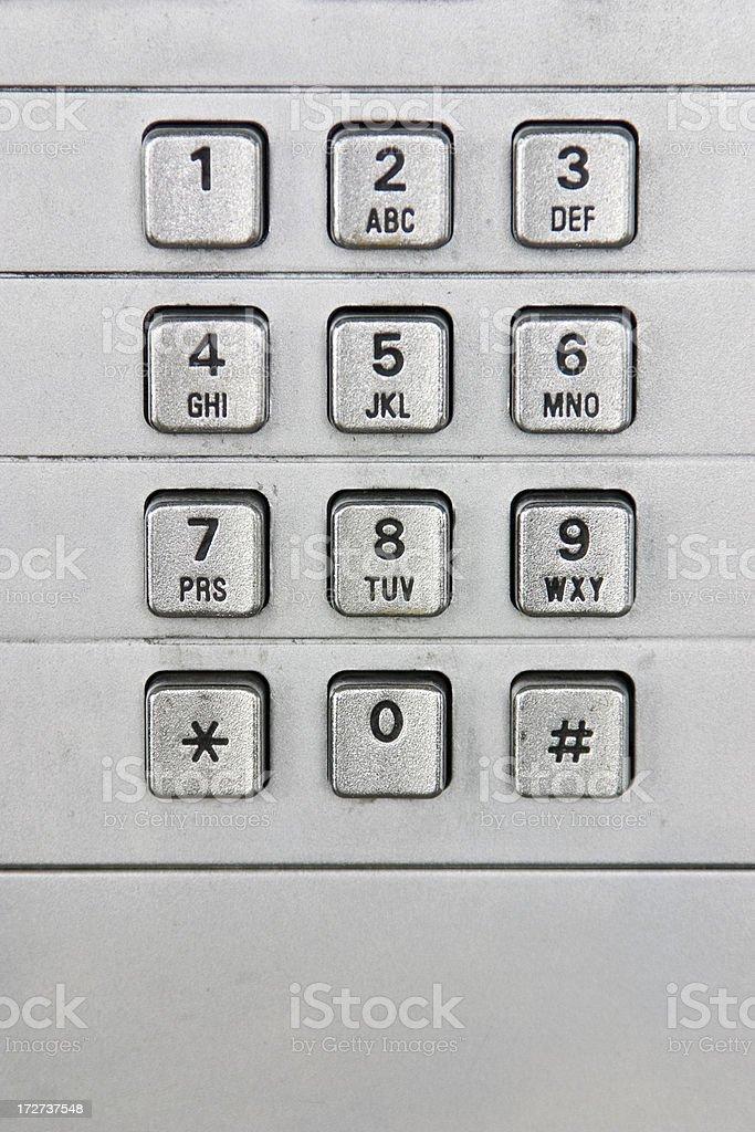Public phone keypad stock photo