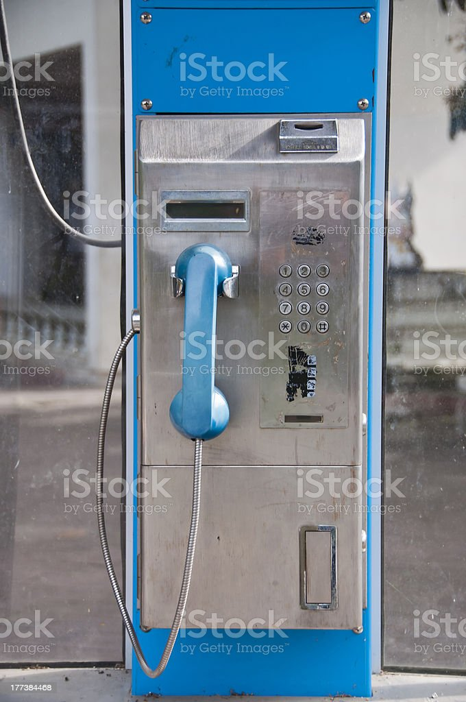 Public phone. royalty-free stock photo