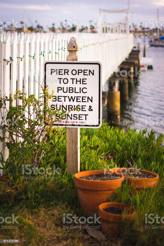 Public Pier by the Sea stock photo