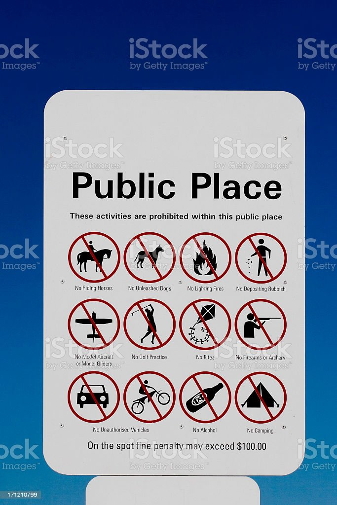 Public place sign royalty-free stock photo