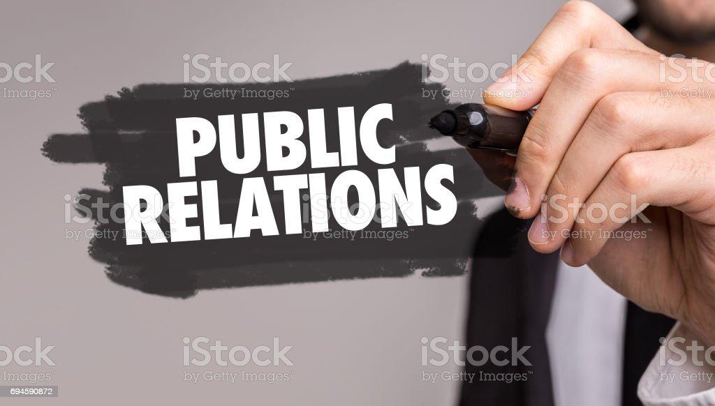 Public Relations sign