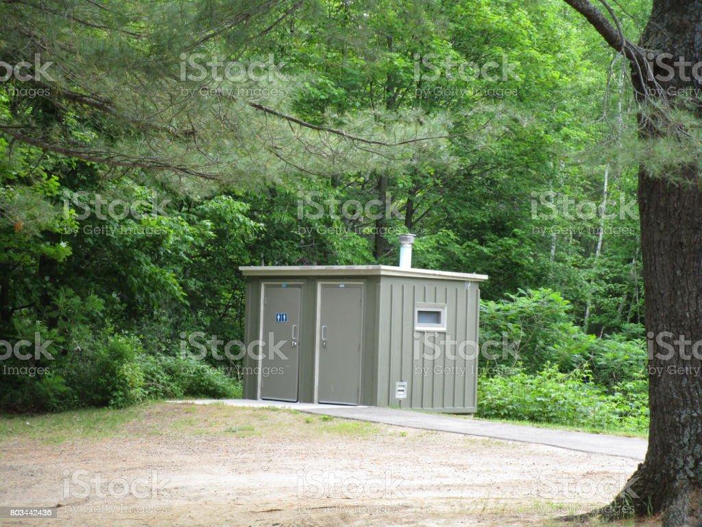 Public Rest Stop stock photo