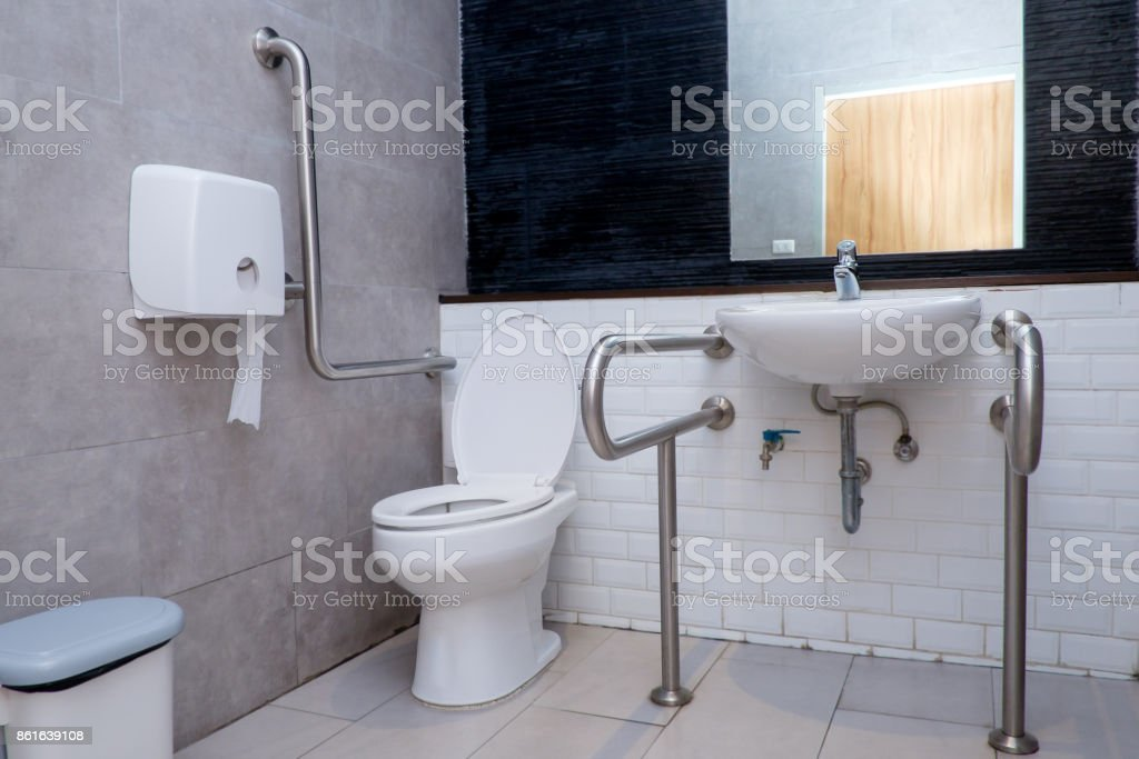 Public Restroom For Disabled And Elderly People Royalty Free Stock Photo