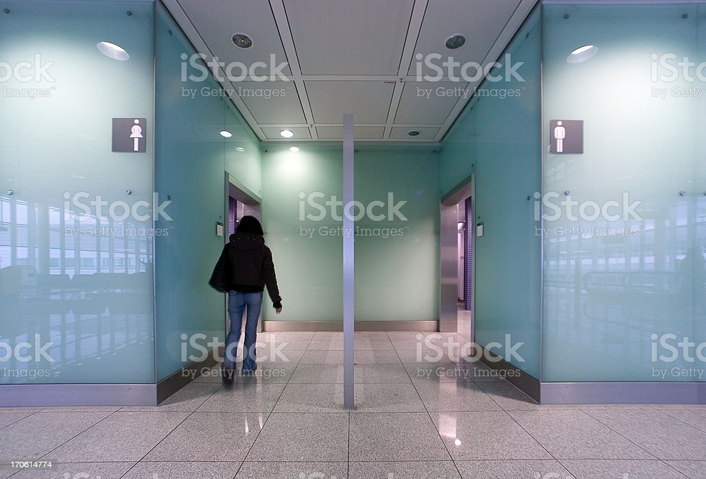 public restrooms stock photo