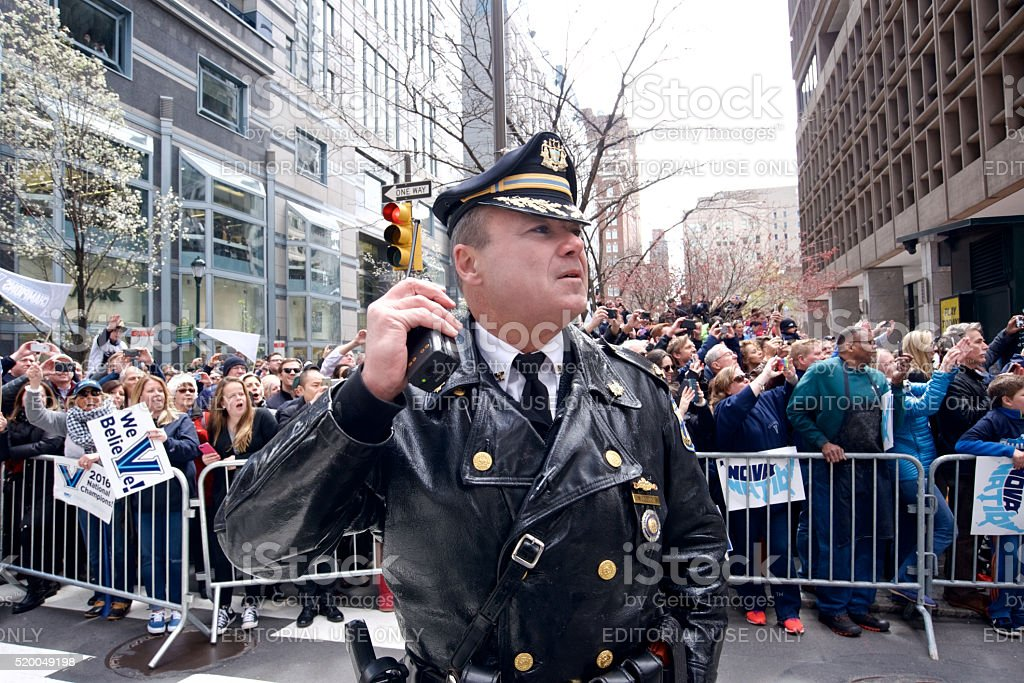 Public Safety at large event in Center City Philadelphia, PA stock photo